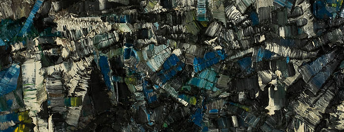 Jean-Paul Riopelle – Composition (detail), 1956.|© 2009 Artists Rights Society (ARS), New York / SODRAC, Montreal